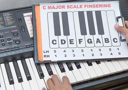 نت خوانی پیانو به کمک انگشتان