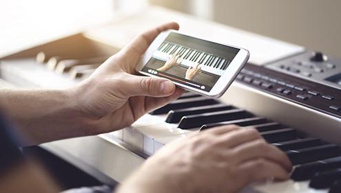 تمرین پیانو
