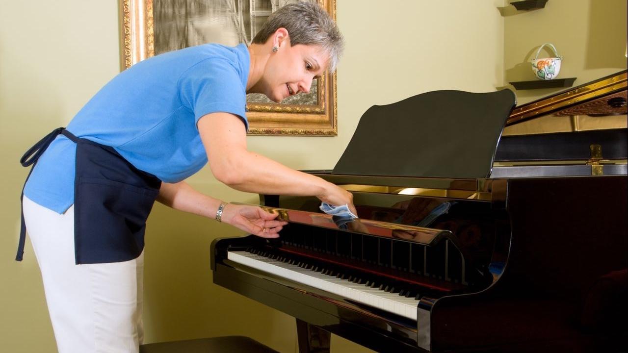 روش صحیح تمیز کردن پیانو